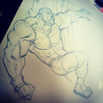Colossus in the Savage Lands... by jerkmonger