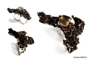 Copper nugget ring by GatoJewel-DerKater
