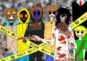 Creepypasta gang~ by Erika-san