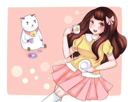 Bee and Puppycat - Tea Time! by tamsbun