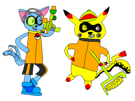 Riolu The Inkling Cat And CJ The Inklingchu by AsheAndCJThePikachus
