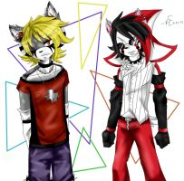 Dioxide and Akito by PlatinumEtching