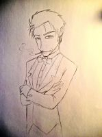 Emo with a bow tie by NiveK-Rayne
