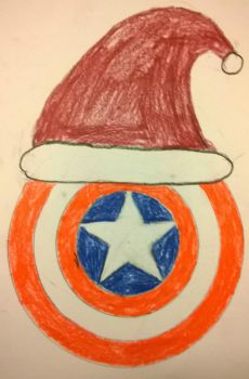 Merry Christmas from Captain America by Divarose