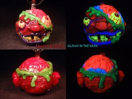Madballs BashBrain Pendant by Undead Ed Glows in t by Undead-Art