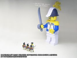 Papercraft LEGO Governor Broadside + soldiers by ninjatoespapercraft