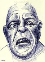 Ball pen sketch Old Man 2 by OCMay