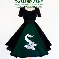 Slytherin Hogwarts House Tea Length Skirt by DarlingArmy