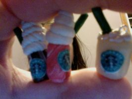Polymer clay starbucks drinks by muffinthehamster11