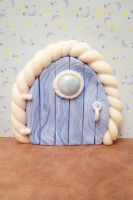 Baby Blue Fairy Door by FlyingFrogCreations