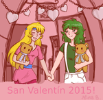 Saint Valentine Junet and Shun by Lallen-Fanart