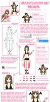 Draw Anime Characters Tutorial by PrincessChex
