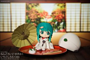 Nendoroid Snow Miku: Strawberry White Kimono Ver. by alainbrian
