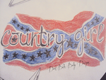 Country Girl Tattoo Design by DirtBikeBabyDesigns