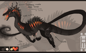 Smoldering Furnace Dragon ADOPTABLE (( CLOSED )) by Hanjamuffin