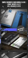 Simple Business Card Bundle II 4 in 1 by VadimSoloviev