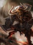 Undead Minotaur Advance by Ubermonster