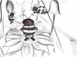 Busy Bees Just Buzzing Around by Anita-Sanderson
