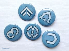 Valkyria Chronicles - Gallian Class Symbol Buttons by Pasiphilo