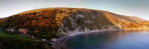 Lulworth Cove 360 Panorama by adamlack