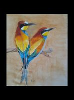 Crazy Bee Eater Love by Jessanmartin