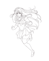 .:. Sailor Mars Lineart .:. by StephanieRosario