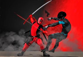 Deadpool action by hiram67