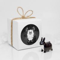 Cosmic Bunny Rabbit Figurine by RamalamaCreatures