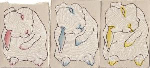 Low Fidelity Bunny ATCs by Quilsnap