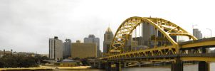 Downtown Pittsburgh Bridge by jixustudios