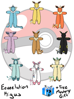 Eeveelution Kigu Commissions by ulquiloverforever