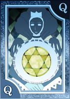 Persona 3/4 Tarot Card Deck HR - Queen of Coins by Enetirnel