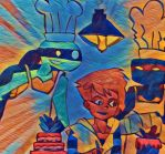 Don vs Raph Cake contest Paint by wrightmother