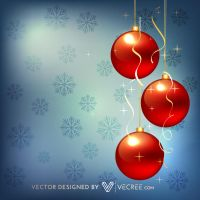 Christmas Red Balls Free Vector by vecree