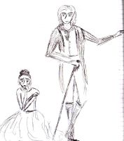 Dorian Gray and Sybil Vane by RattytheScourge