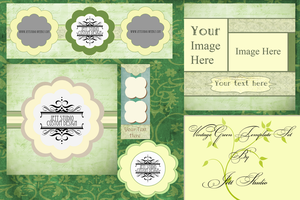 Vintage Green Template Set by raven-jett