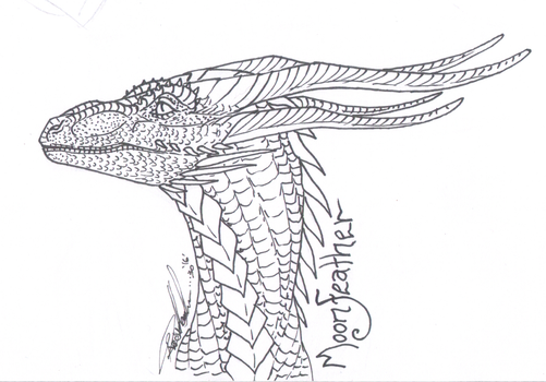 Mooner dragon inks by moonfeather