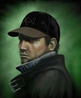Aiden Pearce (Watch Dogs) by Kulibrnda