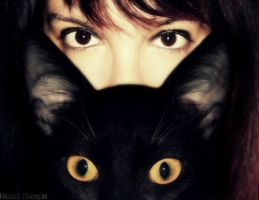 I with my cat by frozenmistress