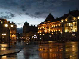 Novi Sad by night by stoxic
