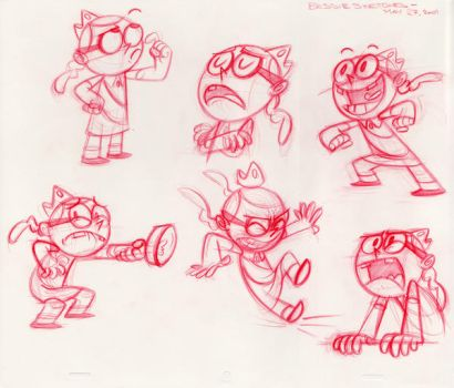Mighty B Sketches by scotlanddbarnes