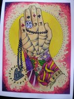 Praying Tattoo hands by Agreus