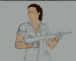 Amanda Ripley WIP by InvaderTarren13