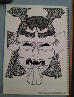 Tribal Samurai Mask [Youtube Drawing video] by ImportAutumn
