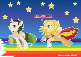 Loki and Thor My Little Pony by arisuhideki