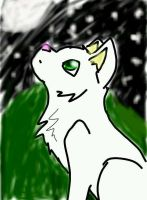 Snowdrop staring at the sky by ShadowTigers