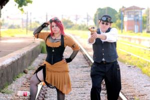 Steampunk train by puppetmissing