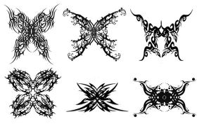 Tribal butterfly Tattoos by Quicksilverfury