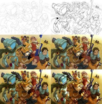 FLCL Process by Quirkilicious