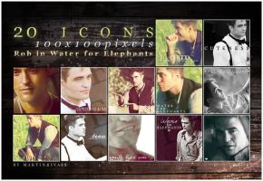 Robert Pattinson - icon set by martinrivass